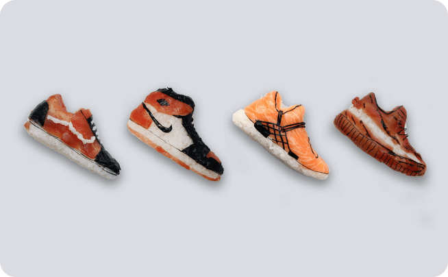 کفش های سوشی یوجیا هو (Yujia Hu)، برای عاشقان غذا و مد