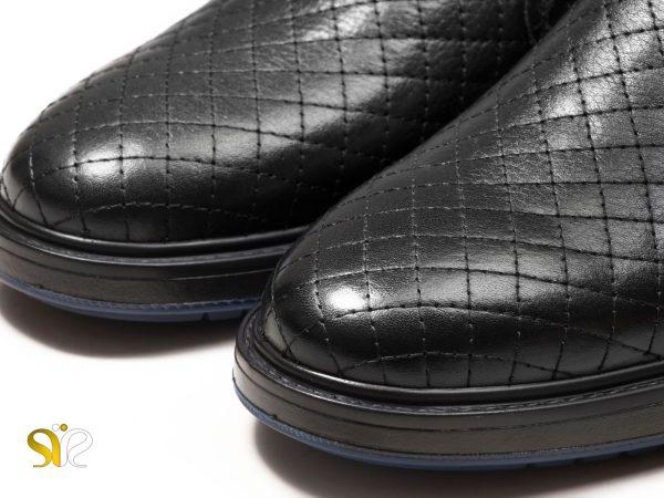 رویه چرم نرم طبیعی کفش مردانه