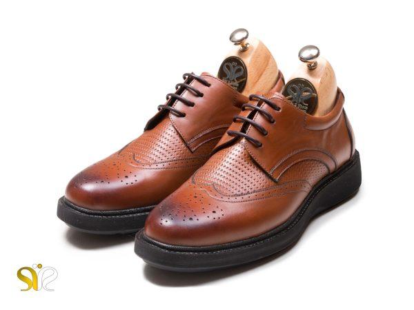 عکس مدل کفش مردانه پرسنلی رنگ عسلی