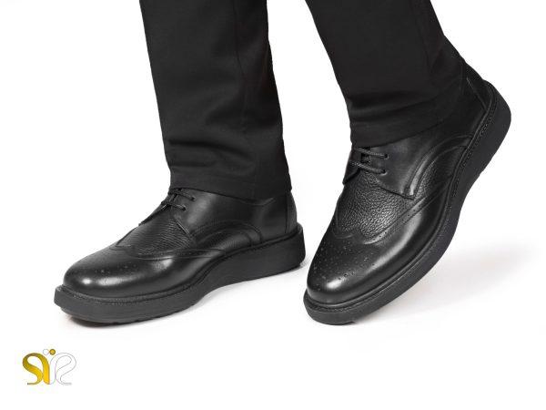 کفش نیمه رسمی مردانه چرم پاما بند دار