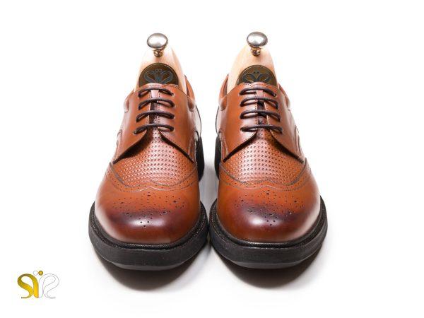 کفش پرسنلی مردانه رنگ عسلی سی سی