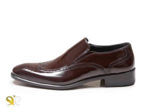 کفش چرم مردانه مدل آذران