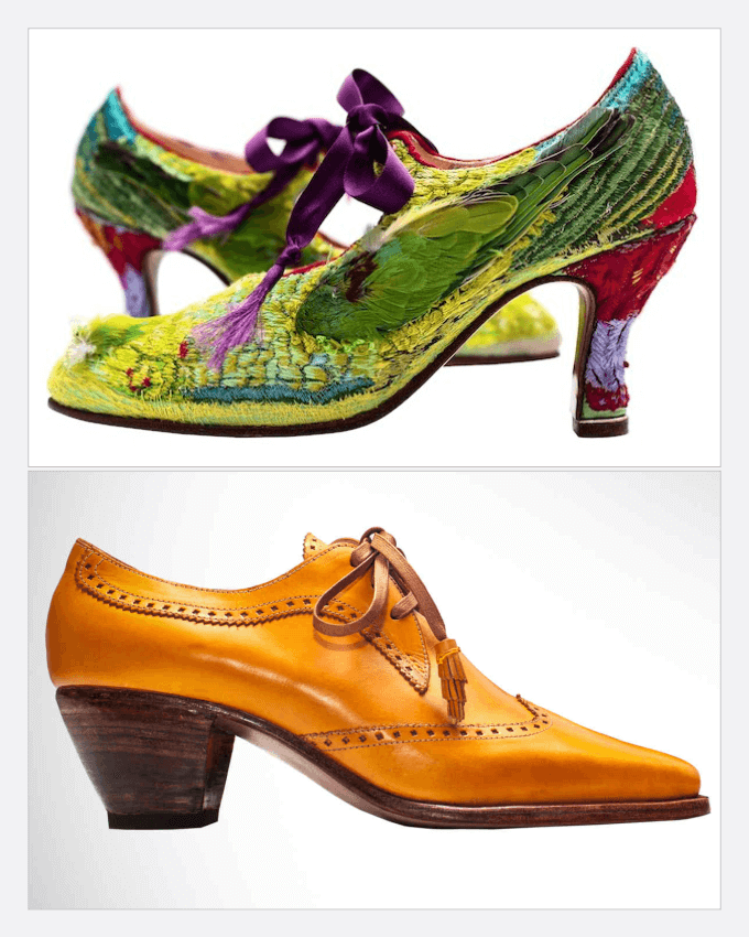 کفش های دست دوز سنتی زنانه خانم کارولین گروس (Caroline Groves)