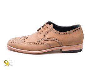 کفش مجلسی مردانه تمام دست دوز چرم نبوک