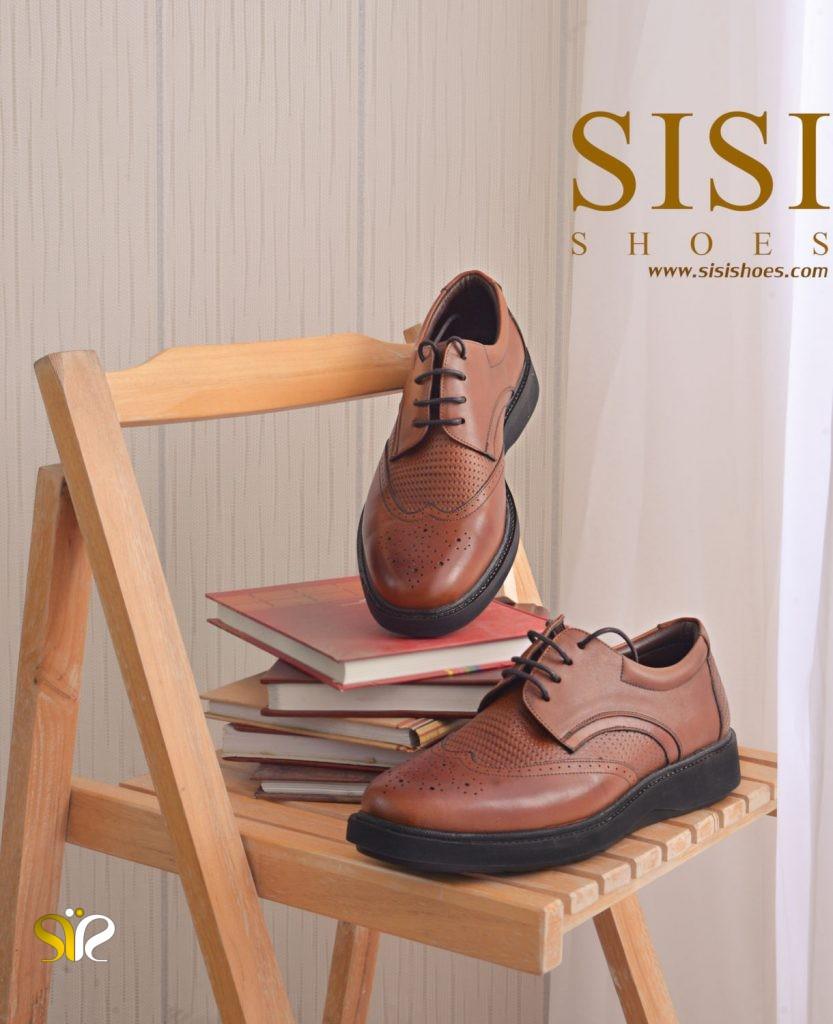 کفش مردانه چرم طبی برای استفاده روزمره مدل پاما بندی