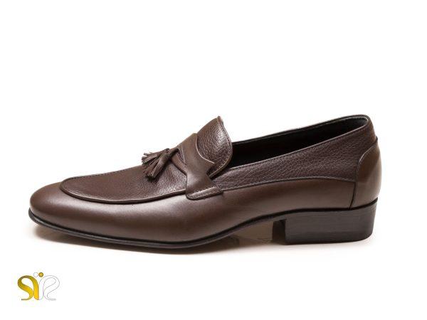 کفش مردانه مدل لوفر سی سی رنگ قهوه ای مات