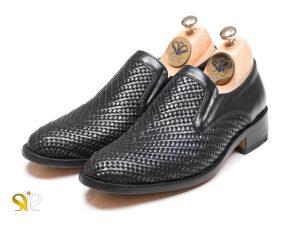 کفش مردانه مدل بافتی بیبند