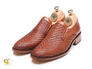کفش مردانه مدل بافتی بیبند پلاس