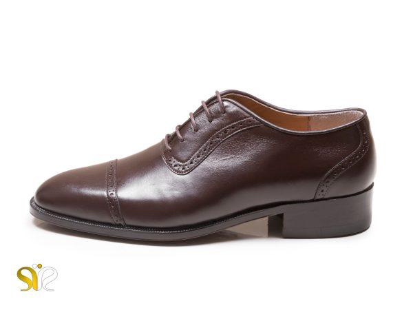 کفش چرم مجلسی مردانه مدل آکسفورد سی سی پاناما قهوه ای