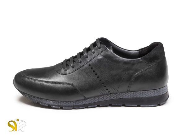کفش چرم مردانه اسپرت مدل میلان بندار مشکی