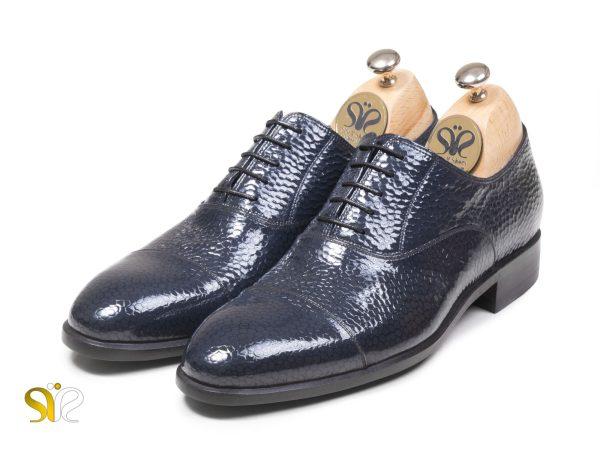 عکس مدل کفش شیک مجلسی مردانه پاریس رنگ سرمه ای