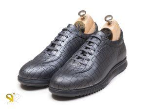 کفش مردانه چرمی مدل مازولا پلاس نقره ای