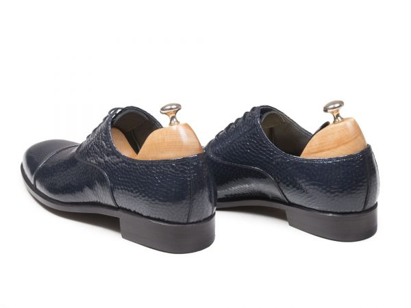 کفش تبریز شیک مجلسی مردانه مدل پاریس سرمه ای آبی