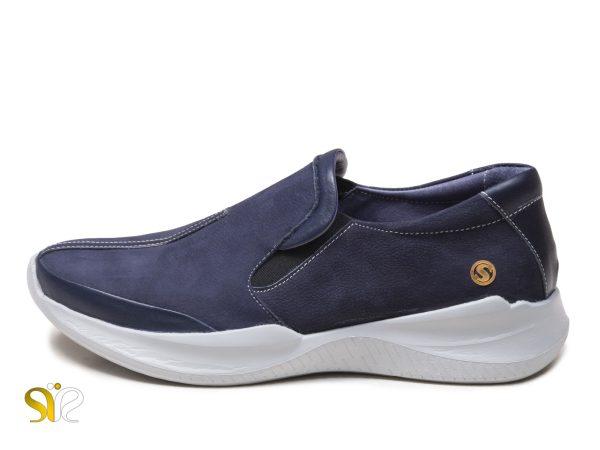 عکس مدل کفش پیاده روی زنانه رنگ سرمه ای فروغ بی بند
