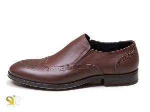 کفش چرم مردانه مدل بوفالو