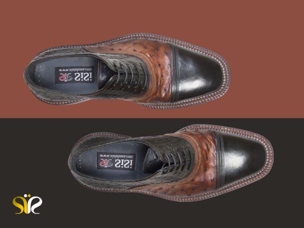 کفش تمام چرم دستدوز مردانه مجلسی مدل شایان وی آی پی - 2