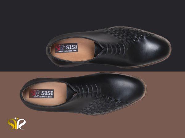 کفش مجلسی مردانه چرم دستدوز دیبالا مشکی