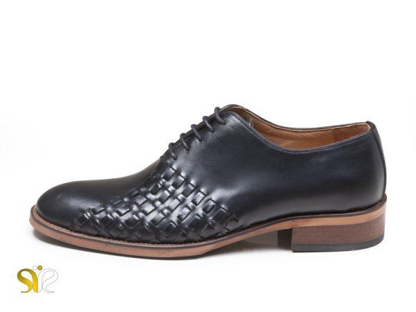 کفش مجلسی چرم مردانه مدل دیبالا مشکی