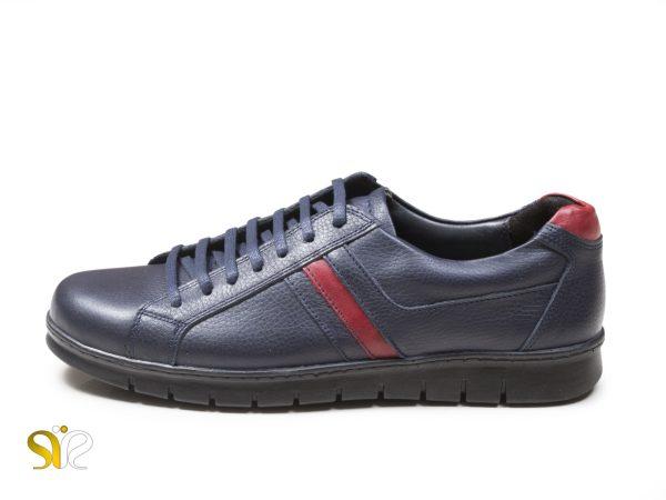 کفش اسنیکرز پسرانه سورمه ای مدل گلزار