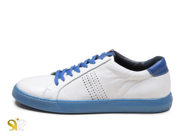 کفش اسنیکر مردانه مدل دیرک سفید آبی
