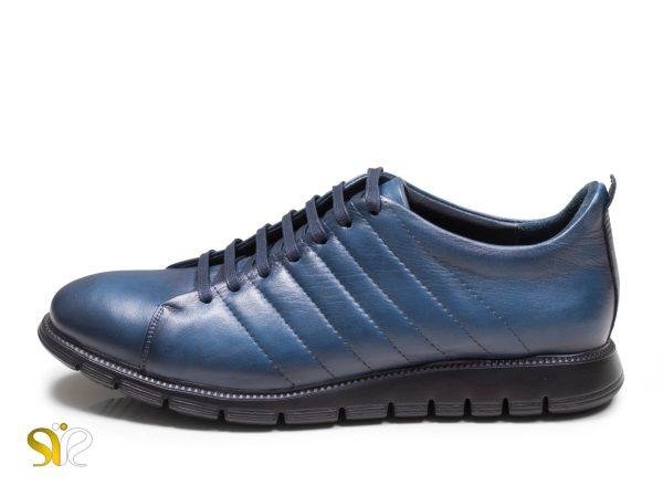 کفش اسنیکر مردانه چرم مدل مارسل سورمه ای