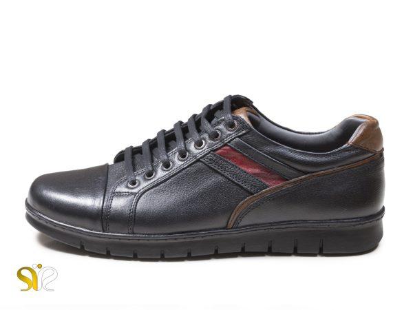 کفش اسپرت چرم گلزار رنگ مشکی