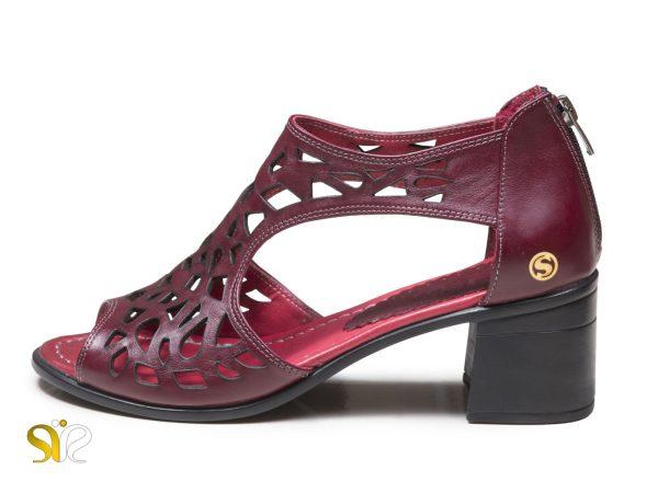 کفش تابستانی زنانه مدل لاله رنگ زرشکی