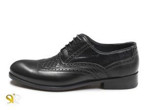کفش چرم دستدوز مردانه مدل تیاگو