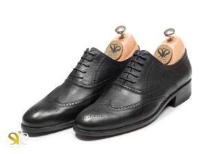 کفش تمام دستدوز چرمی مدل روتین