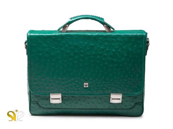 کیف چرم اداری مدل رابرتو سبز