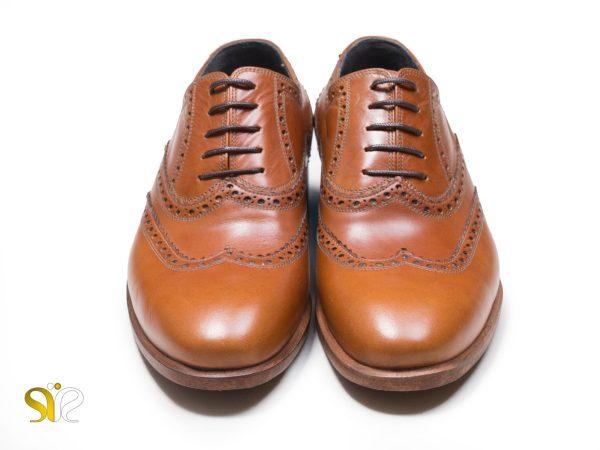 کفش چرم مرانه رنگ عسلی