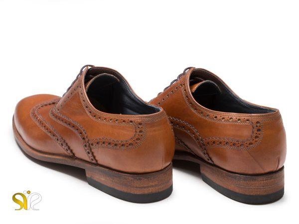 پاشنه لایه لایه چرمی کفش مردانه کلاسیک