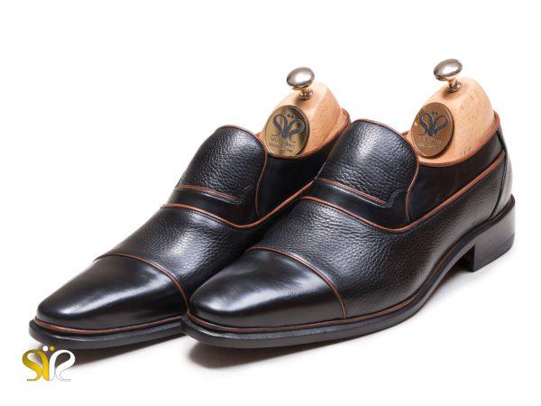 مدل کفش دستدوز چرم بی بند رسمی