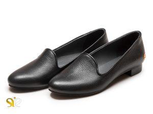 کفش تخت زنانه چرمی مدل آیسل بی بند