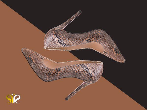 ست کفش زنانه چرم پوست ماری مدل راگا