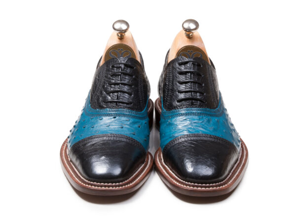 عکس کفش آبی مشکی مدل شایان وی آی پی مردانه