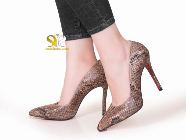 عکس کفش زنانه چرم پوست ماری مدل راگا