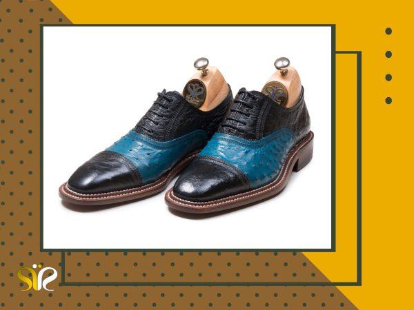 عکس کفش مشکی آبی مدل شایان وی آی پی