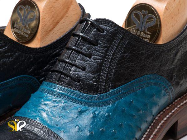 مدل کفش مردانه مشکی آبی مدل شایان وی آی پی