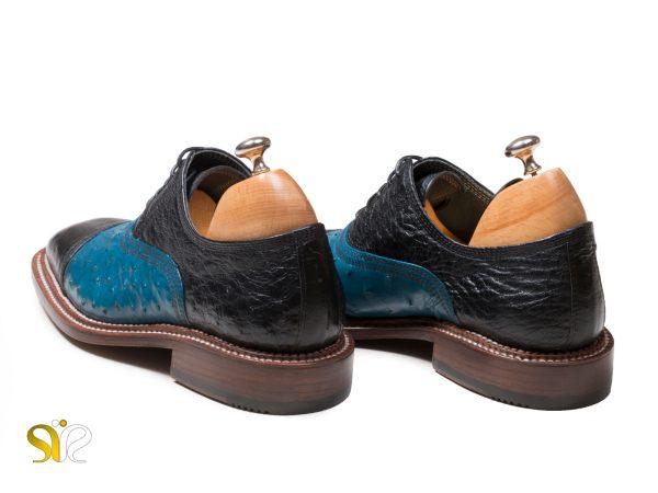 پاشنه کفش مشکی آبی مردانه مدل شایان وی آی پی