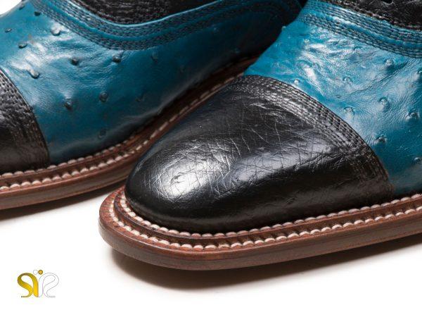 پنجه کفش مردانه مدل شایان وی آی پی مشکی آبی