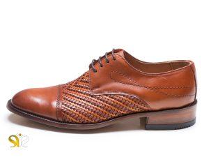 کفش مردانه مدل بافتی سرپنجه دار