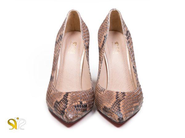 کفش زنانه پوست ماری چرم مدل راگا