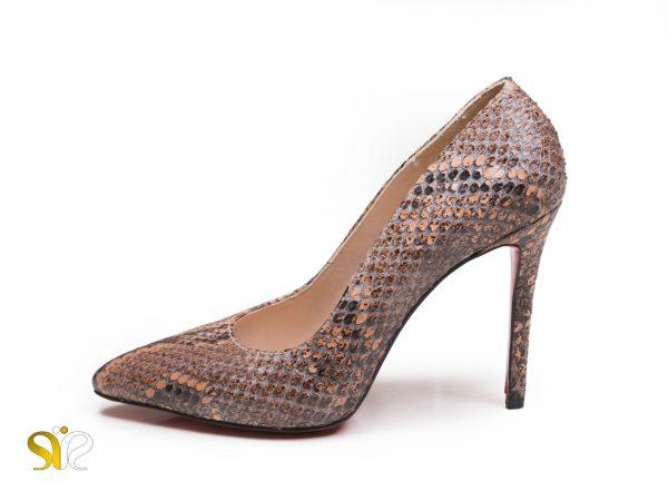 کفش زنانه چرم پوست ماری مدل راگا