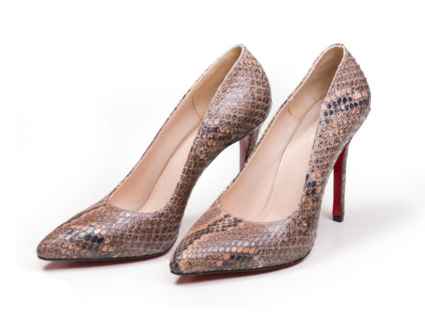 کفش پاشنه بلند پوست ماری زنانه مدل راگا