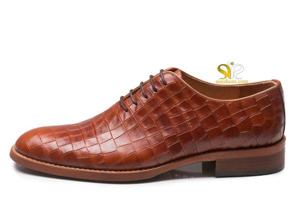 کفش چرم مردانه مدل باتیستا عسلی