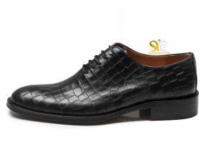 کفش چرم مردانه مدل باتیستا مشکی