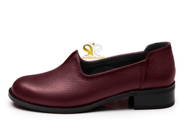 کفش زنانه مدل زیبا رنگ زرشکی