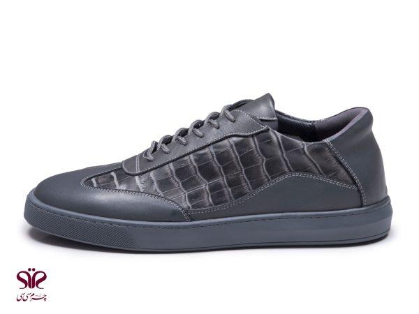 کفش اسپرت مردانه مدل شارک رنگ طوسی