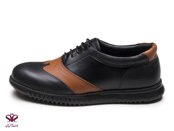 کفش مردانه مدل کاپریس قهوه ای مشکی